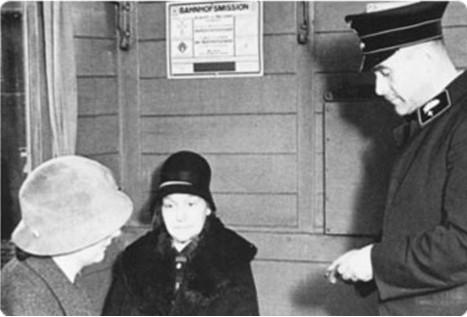 Fahrkartenkontrolle in den 30er Jahren